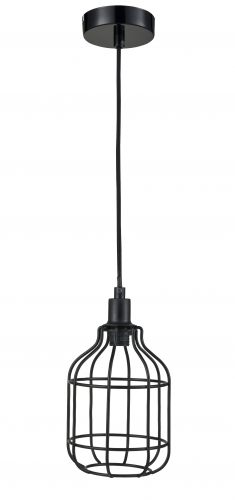 Simple mental padent lamp.PL9127-BK,E27.Max 40W