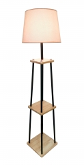 Wooden floor lamp, FL9107-ORW,E27.Max 40W