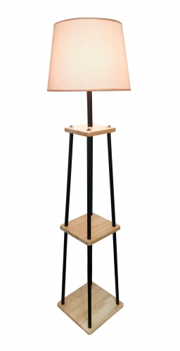 Wooden floor lamp, FL-9107-ORW,E27.Max 40W