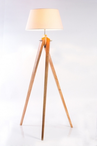 Wooden Floor lamp,FL-7107,E27,Max 40W