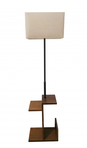 Wooden floor lamp,FL-9106-ORW,E27.Max 40W